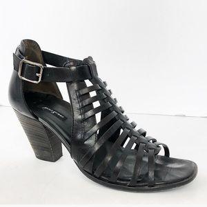 Paul Green Leather Huaraches Sandal Heels